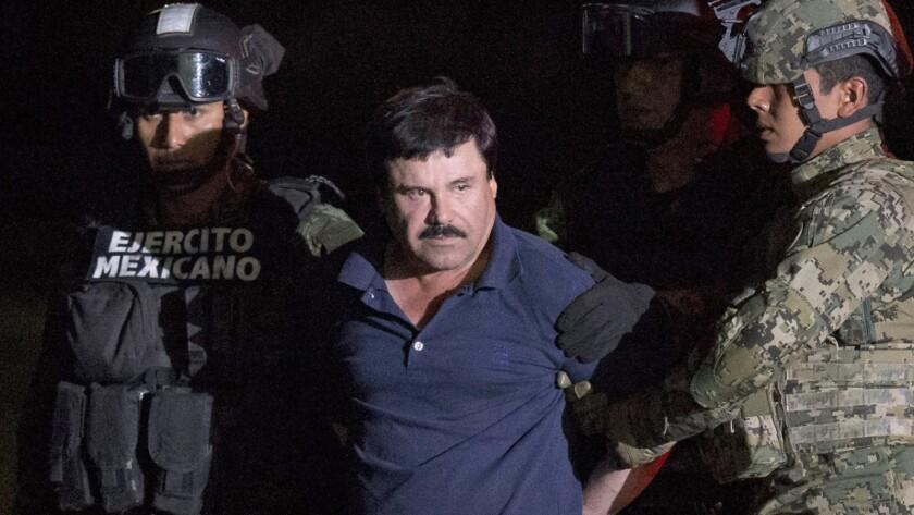 """Drug kingpin Joaquín """"El Chapo"""" Guzmán."""