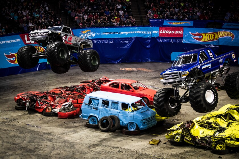 A photo of Hot Wheels Monster Trucks Live