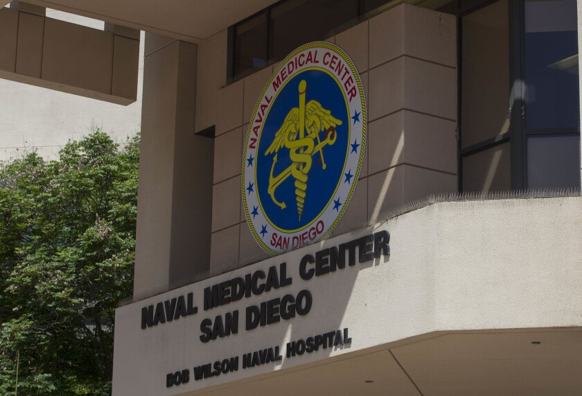 The entrance to Regional Naval Medical Center San Diego