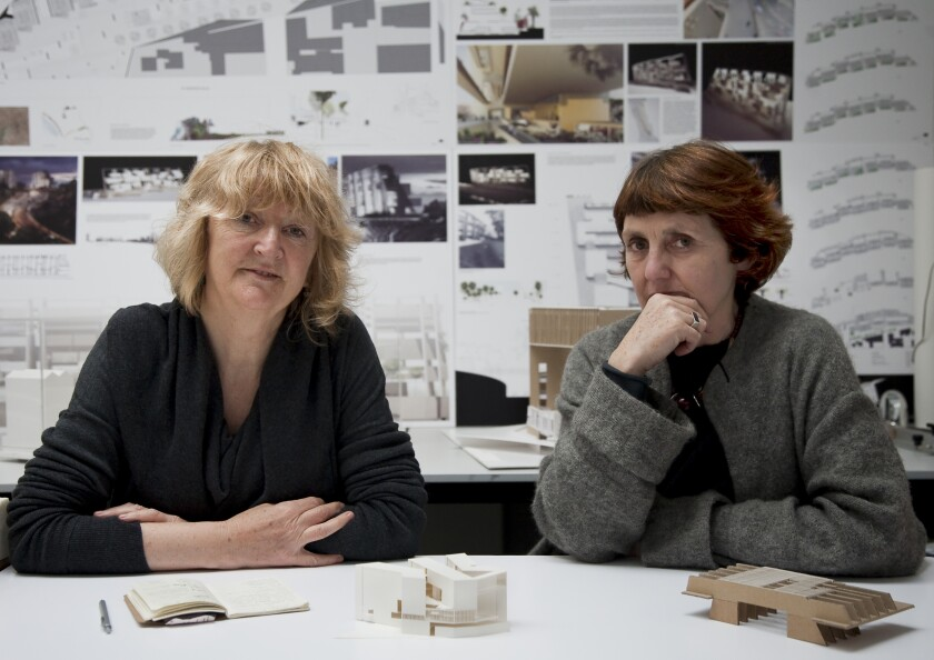 Yvonne Farrell, left, and Shelley McNamara, founders of Grafton Architects.