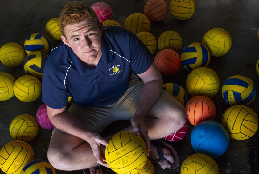 Newport Harbor High boys' water polo junior center Ike Love is the Daily Pilot Dream Team Boys' Wate