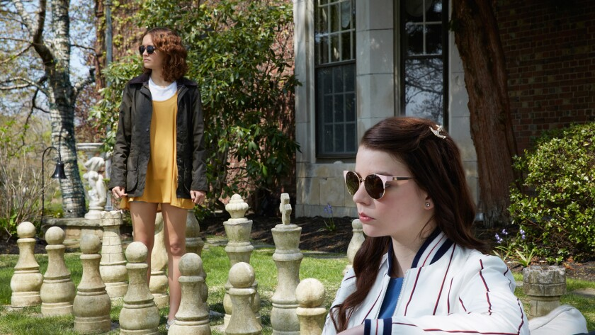 "Olivia Cooke, left, and Anya Taylor-Joy play a pair of teenage sociopaths who are a peculiarly nasty pleasure to watch in ""Thoroughbreds."""