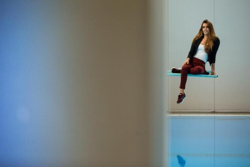 La capitana del equipo español de natación sincronizada, Ona Carbonell. EFE/Archivo