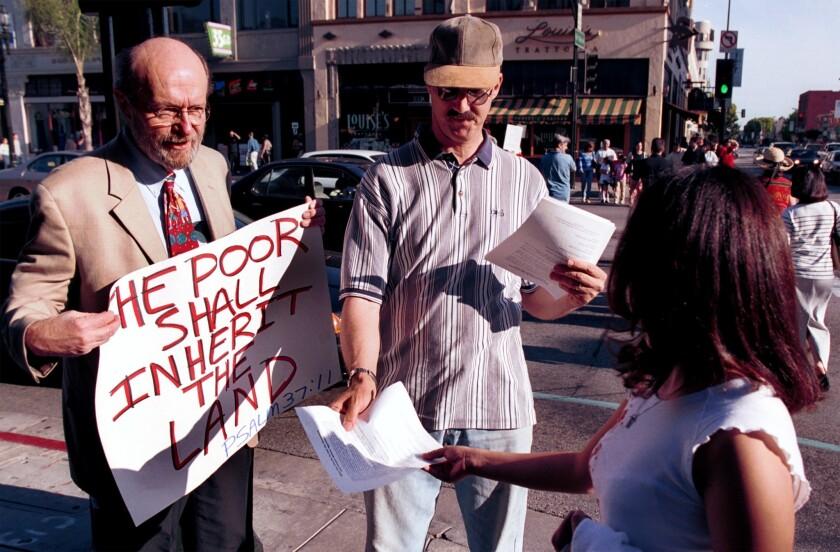 Glen Stassen and Mark Harlan in Pasadena
