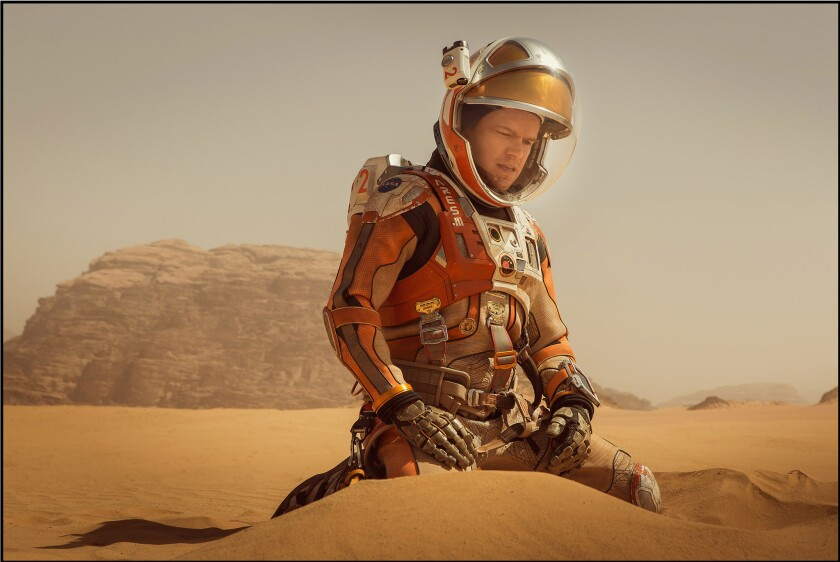 """Astronaut Mark Watney (Matt Damon) finds himself stranded and alone on Mars in """"The Martian."""""""