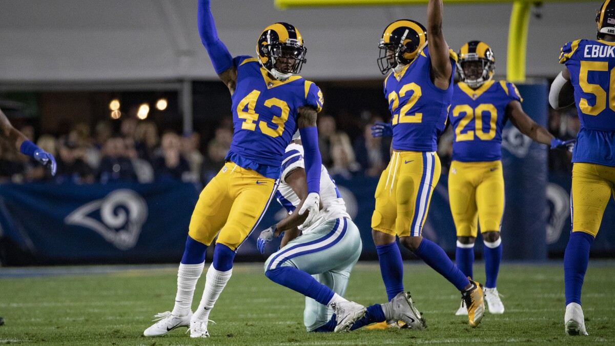 hot sale online 1127b 437e5 Column: What gets the Rams' Marcus Peters upset? Apparently ...