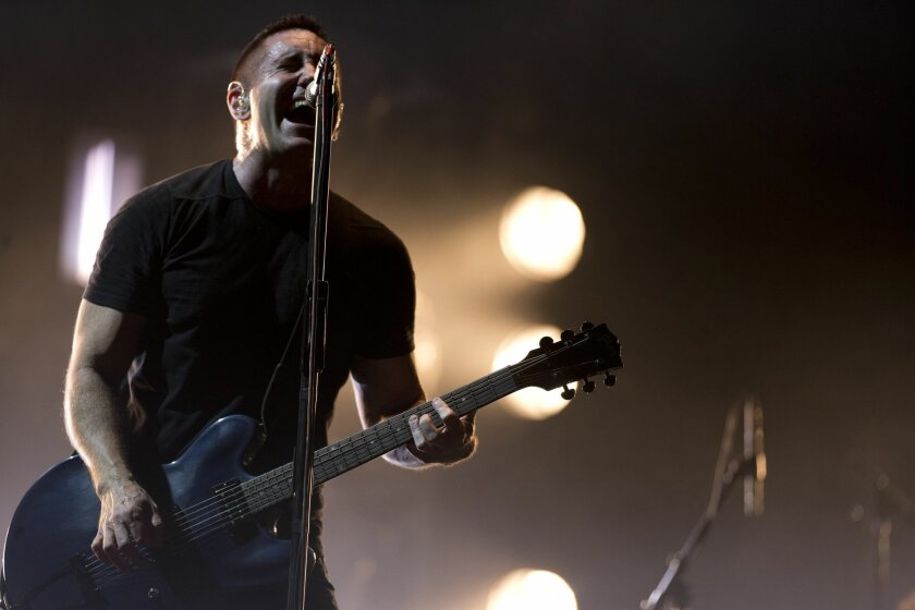 Trent Reznor of Nine Inch Nails performs at the Vive Latino music festival in Mexico City in 2014.