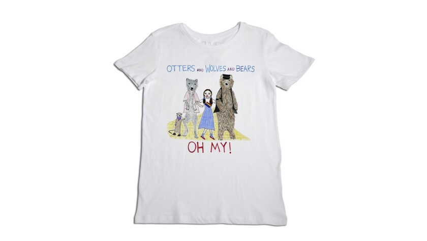 Cheeky T-shirt brand Unfortunate Portrait has released its Otter + Wolves T-shirt Credit - Unfortun
