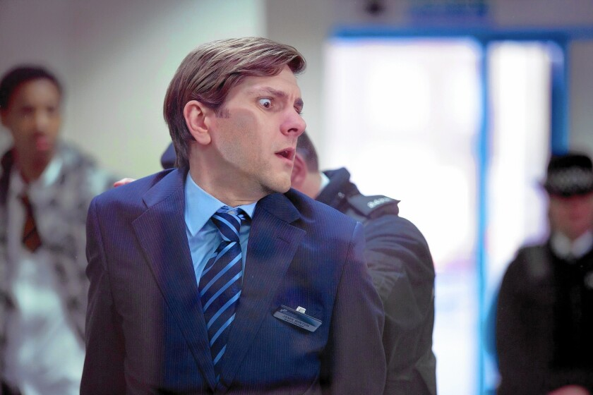 """Mathew Baynton plays Jamie, a bank manager arrested for cyber terrorism, in """"You, Me and the Apocalypse."""""""