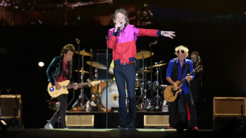 The Rolling Stones perform during last month's Desert Trip festival in Indio.