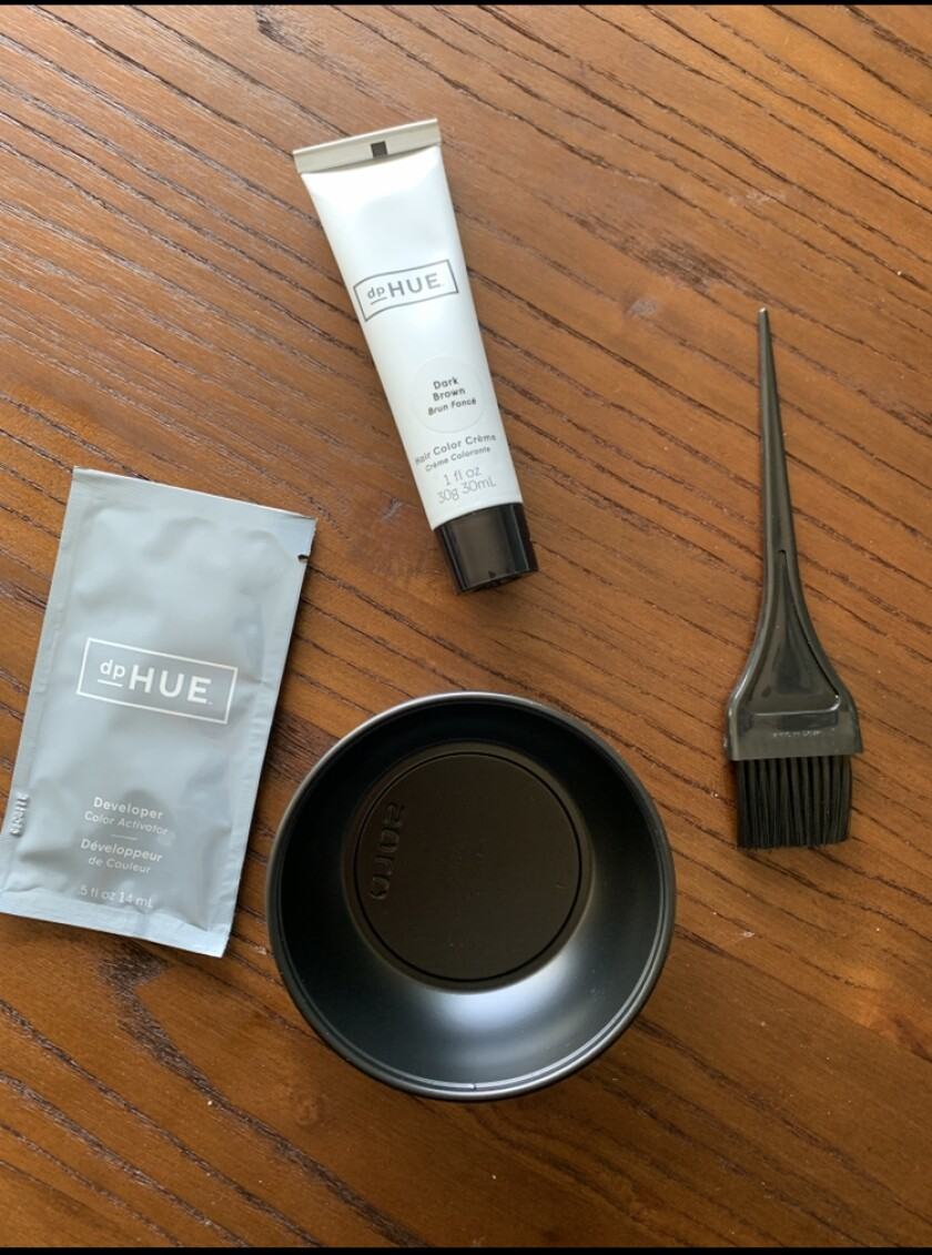 A home hair coloring kit.