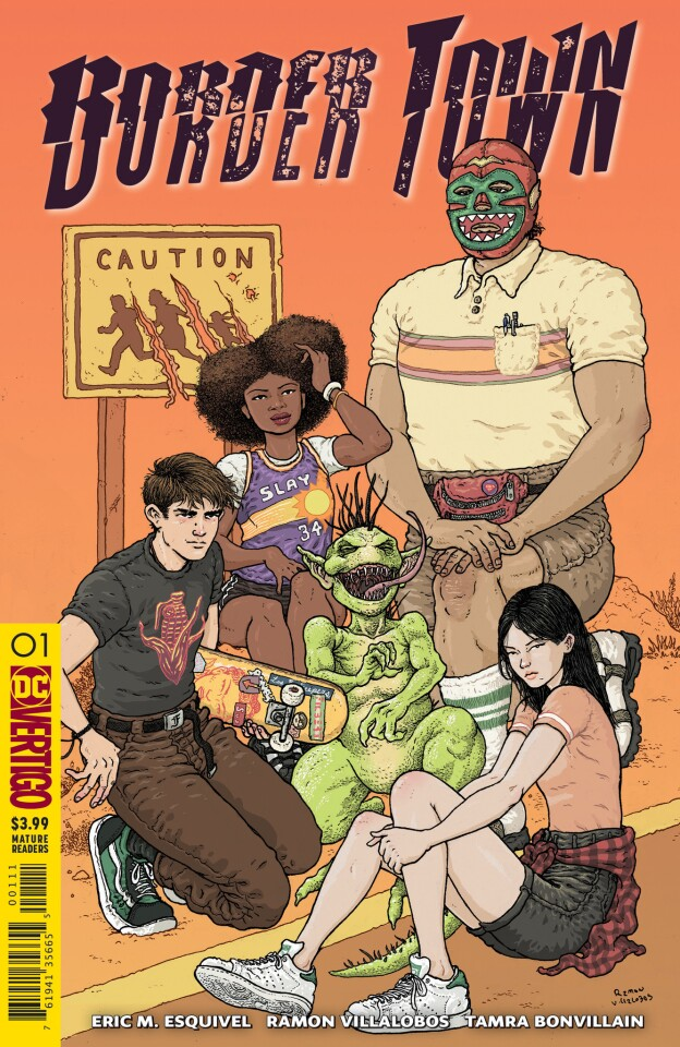 """The cover for """"Border Town"""" No. 1 by writer Eric M. Esquivel and artist Ramon Villalobos."""