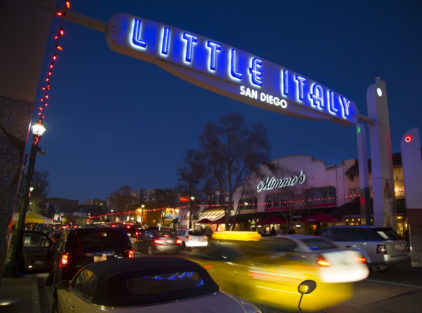 A security guard at El Camino bar in Little Italy shot and wounded a customer during an argument early Saturday.