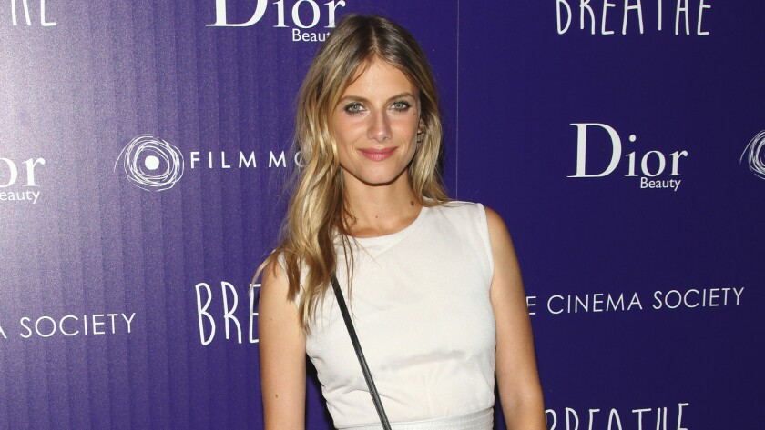 "Melanie Laurent attends a special screening of ""Breathe,"" in New York."