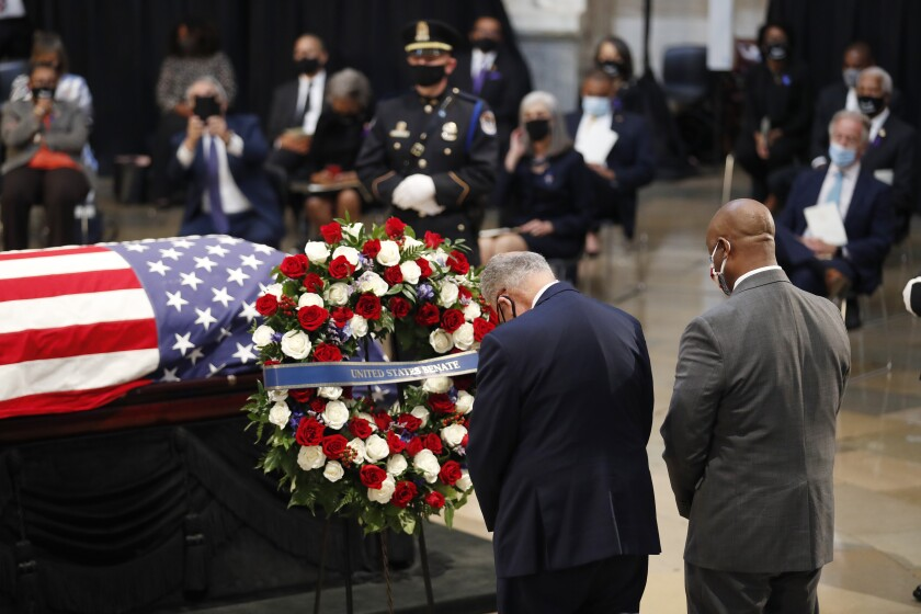 John Lewis Memorial Ceremony Lying In State From Capitol Rotunda Washington DC