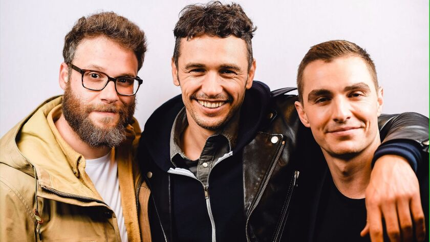 """""""The Disaster Artist"""" brain trust: actor/producer Seth Rogen, actor/director James Franco and actor Dave Franco at South by Southwest."""