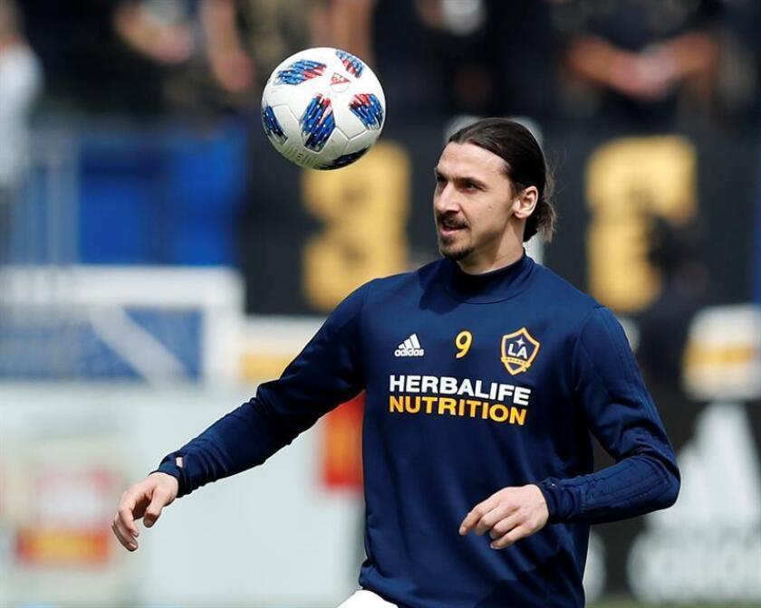 En la imagen, el jugador de los Los Angeles Galaxy Zlatan Ibrahimovic. EFE/Archivo