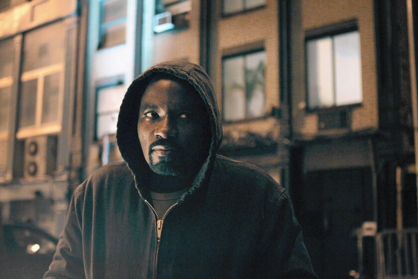 """Mike Colter's character makes the leap from """"Jessica Jones"""" to his own Netflix series, """"Luke Cage."""""""
