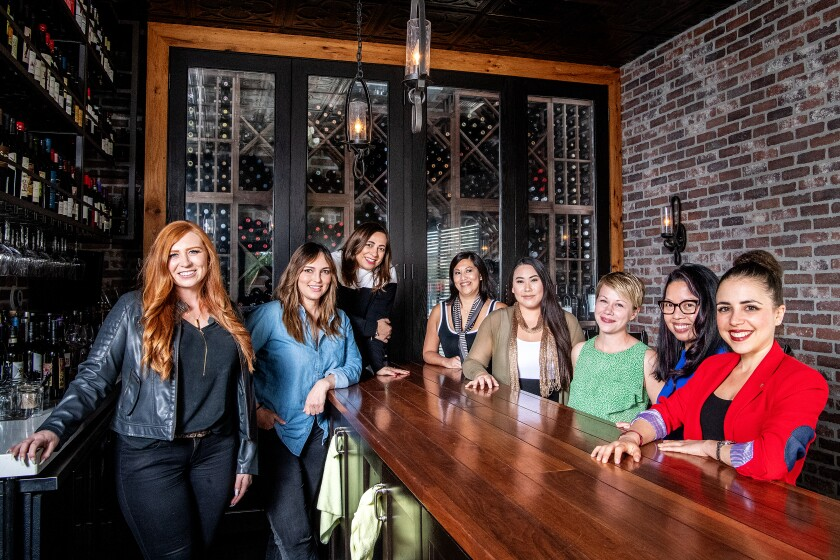 A group of female sommeliers who worked together to save Rustic Kitchen in Mar Vista.