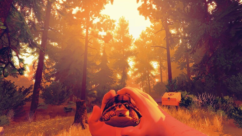 """""""Firewatch"""" starts with heartbreak, and soon descends into David Lynch-inspired weirdness. The game is out now for the PlayStation 4."""