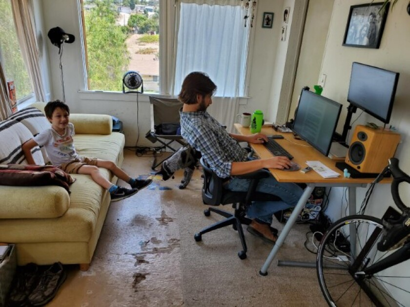 Reporter Joshua Smith works from home