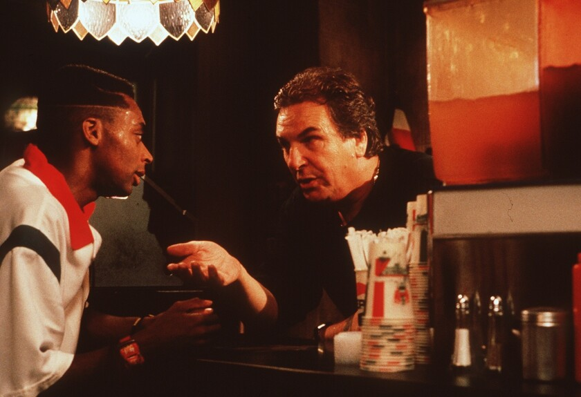 Spike Lee and Danny Aiello in the movie