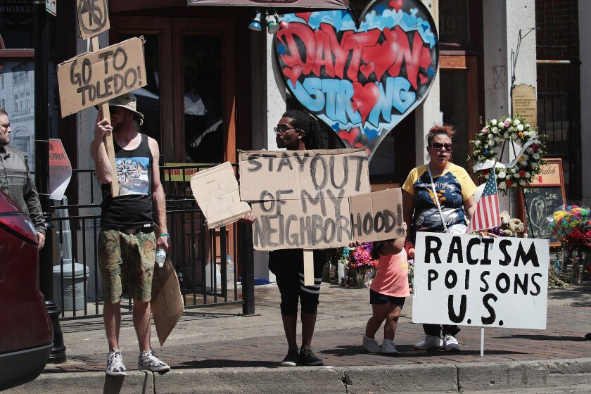 Protest in Dayton, Ohio