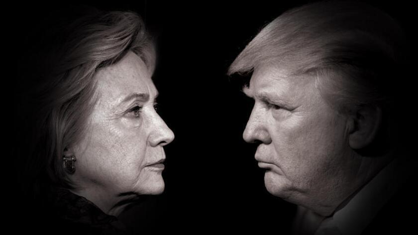 Hillary Clinton vs Donald Trjmp