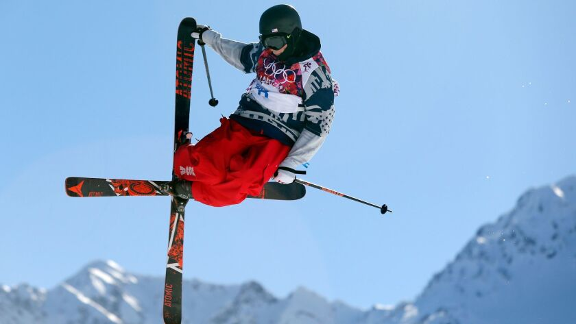 FILE - In this Feb. 13, 2014, file photo, Gus Kenworth, of the United States, competes in the men's