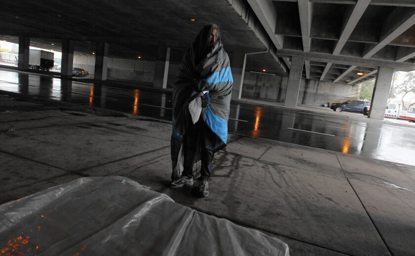 El Nino makes life tough for homeless