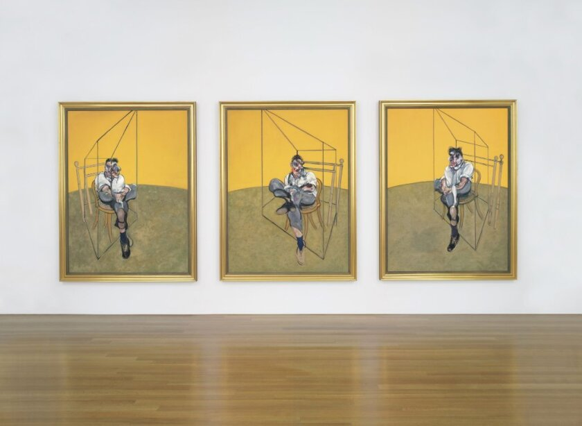 """Francis Bacon's """"Three Studies of Lucian Freud"""" broke auction records for garnering a price tag of about $142.4 million."""
