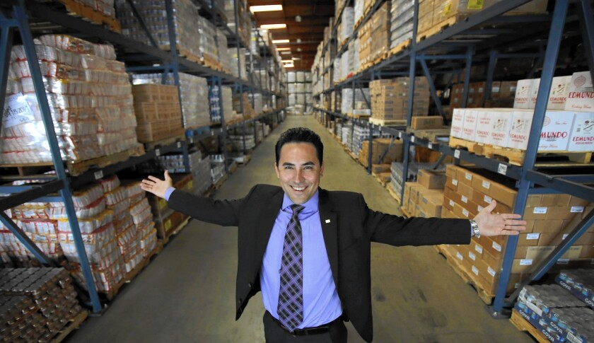 Robert Unanue, general manager of Goya Foods' California arm, at the company's new distribution center in the City of Industry.