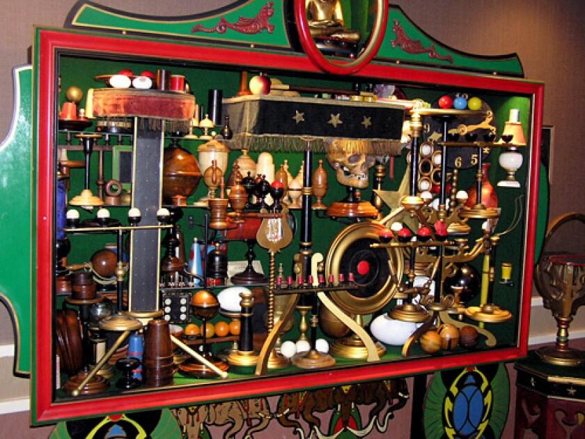 """Shrine of Thayer Apparatus"" in the exhibit room."