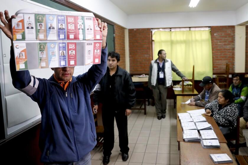 CORRECTION Bolivia Elections