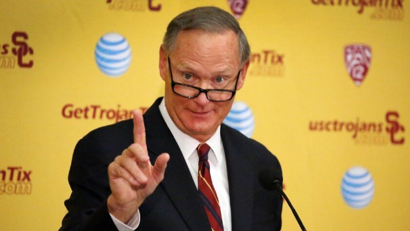 Former USC athletic director Pat Haden is under scrutiny in an investigation into admissions fraud that has ensnared several former USC employees.