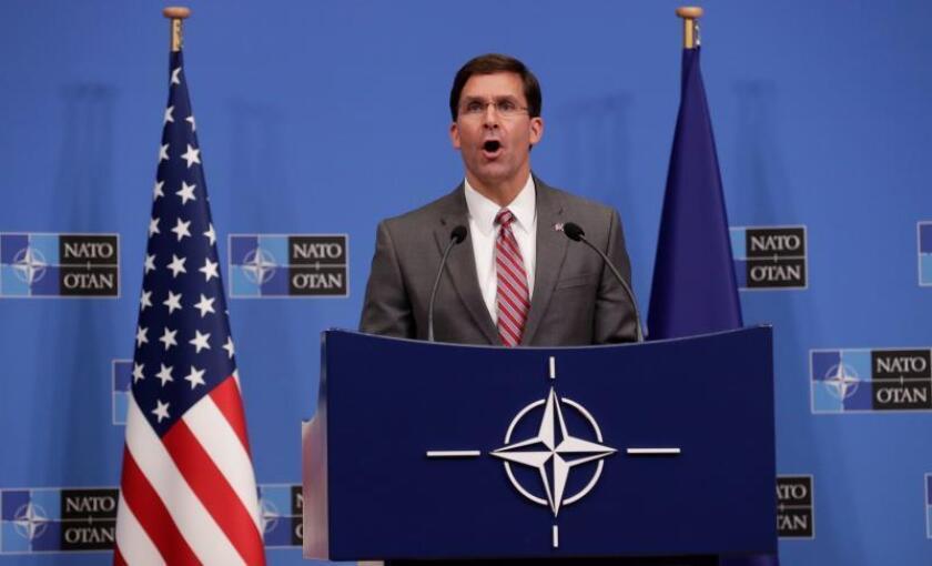 El secretario de Defensa estadounidense en funciones, Mark Esper. EFE/ Olivier Hoslet/Archivo
