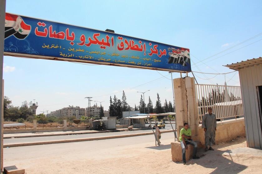 Aleppo bus depot