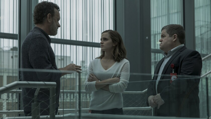 """Tom Hanks, Emma Watson and Patton Oswalt in """"The Circle."""""""
