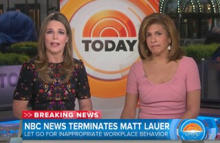 NBC fires 'Today' host Matt Lauer for 'inappropriate sexual behavior'
