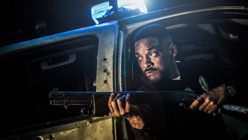 Will Smith in the Netflix original film BRIGHT. Directed by David Ayer. Credit: Scott Garfield/Netfl