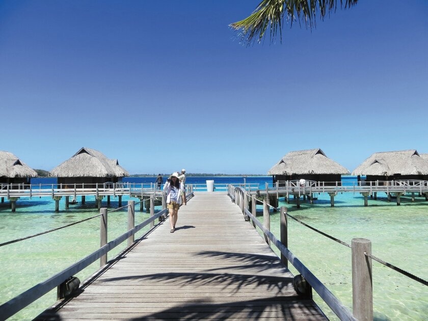 The Sofitel Bora Bora Private Island has 31 overwater and land bungalows. Staying there is like being shipwrecked, luxe-style.