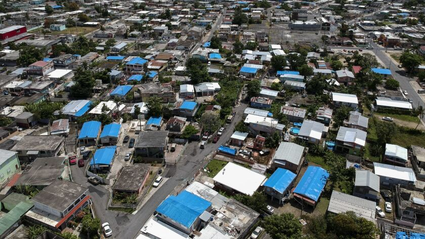 This June 18, 2018, file photo shows an aerial view of the Amelia neighborhood in the municipality o