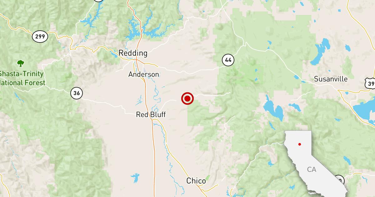 大震災3.1震登録され近くのレッドブラフにアメリカ(カリフォルニア州北部