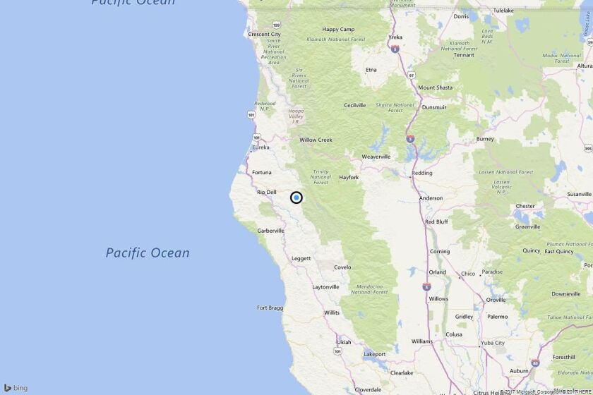 Earthquake: 3.2 quake strikes near Redway, Calif.