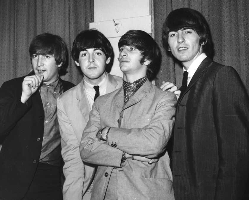 """The Beatles, seen in 1965, are the focus of a restoration of a film of their Aug. 15, 1965, concert at Shea Stadium in New York. It will be screened in September, along with the new Ron Howard documentary """"Eight Days a Week: The Touring Years."""""""