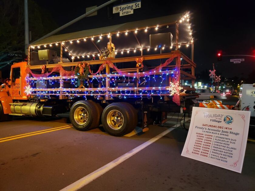 As it did in 2019, La Mesa Lumber will deck out one of its trucks at this year's Holiday in the Village, set for Dec. 5.