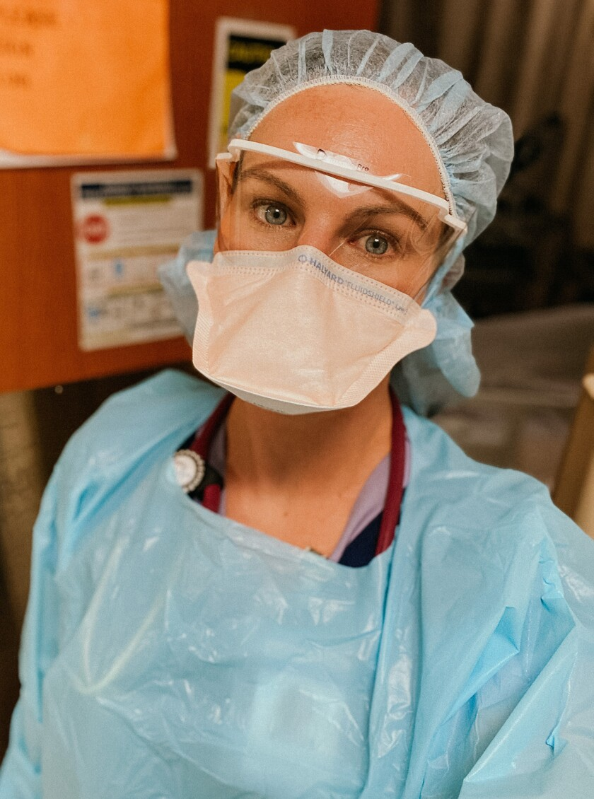 Analise Eastman, a Point Loma Nazarene graduate, is a first-time travel nurse, working at a hospital in greater Chicago.