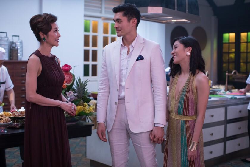 """Una escena de """"Crazy Rich Asians"""", la nueva comedia de cine que le brinda roles estelares a una comunidad no siempre presente en Hollywood."""