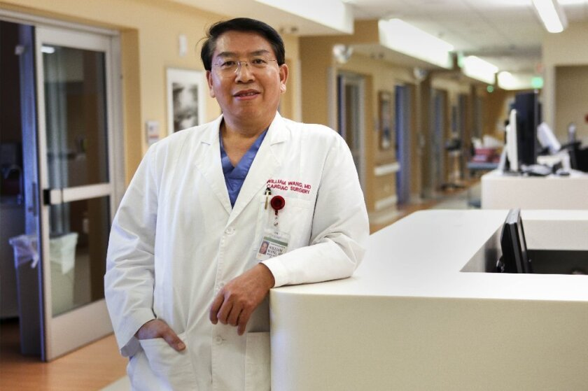 Dr. William Wang leads the Scripps Saving Hearts program. / photo by Hayne Palmour IV * U-T
