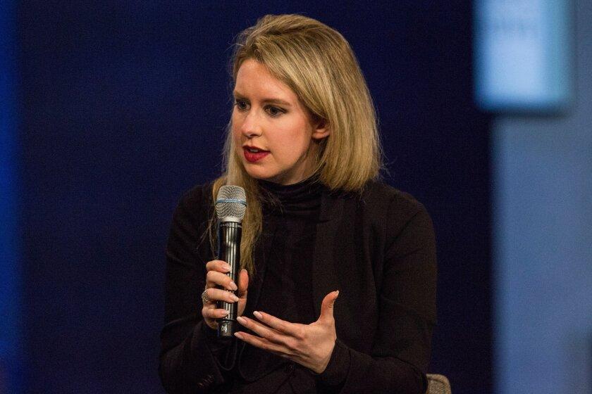 Theranos Chief Executive Elizabeth Holmes